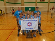T.A.A.F. 2015 Girls 8 & Under State Volleyball Champions