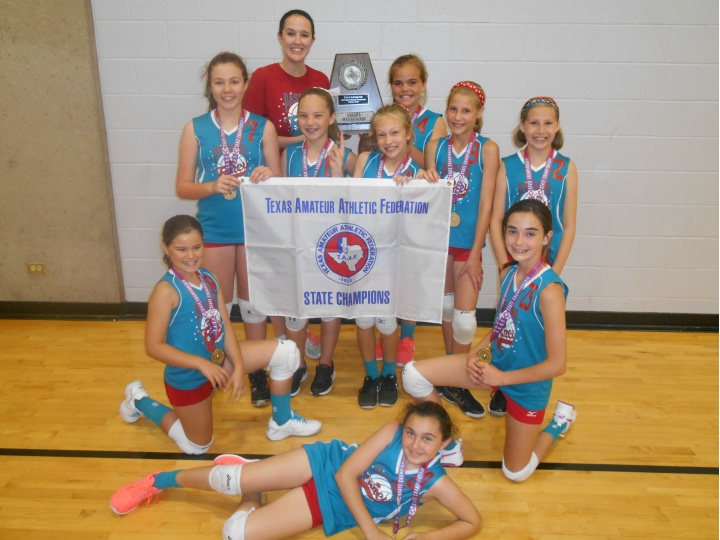 T.A.A.F. 2015 Girls 10 & Under State Volleyball Champions