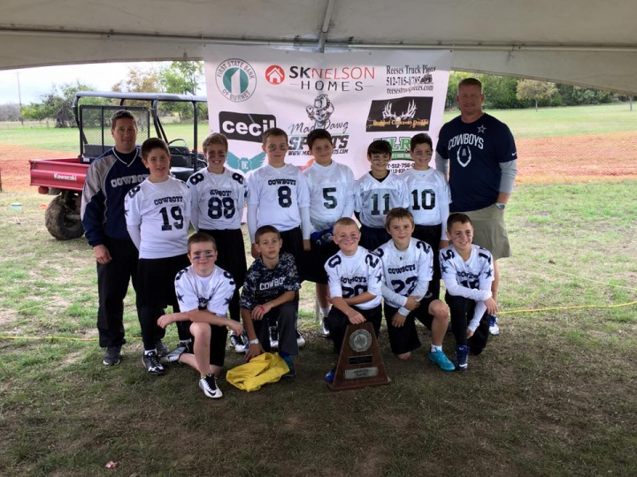 2015 TAAF 10 & Under State Flag Football Fourth Place