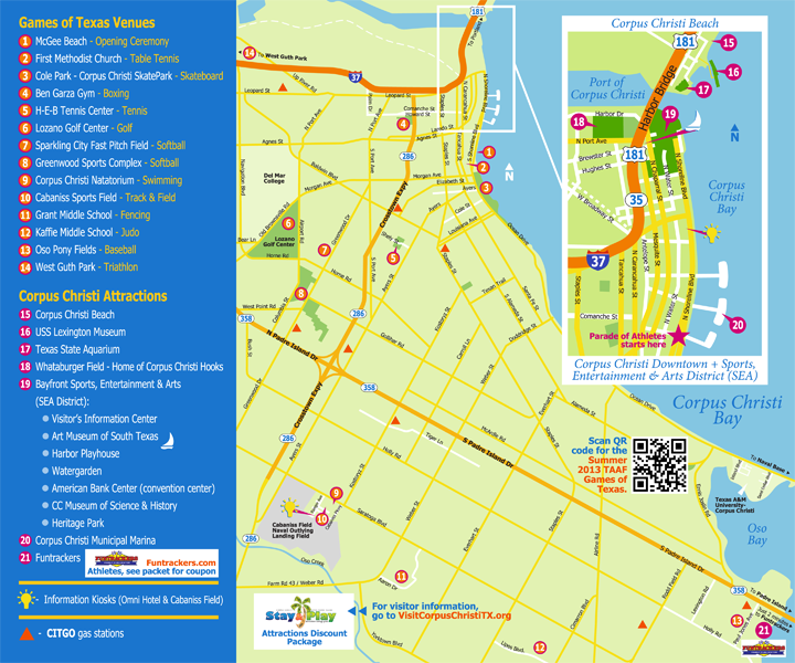 Summer 2013 TAAF Games of Texas - Venues & Attractions Map
